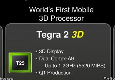 3D, TEGRA 2 İLE CEBE GELECEK
