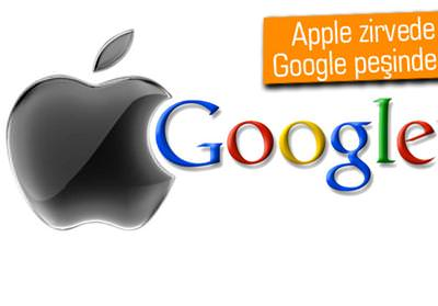 APPLE, GOOGLE'I TAHTINDAN İNDİRDİ