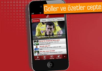 LİG TV İPHONE'DA