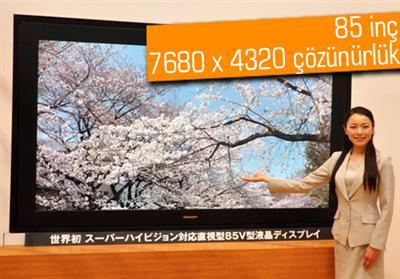 SHARP'TAN DÜNYANIN İLK SUPER Hİ-VİSİON DESTEKLEYEN LCD TELEVİZYONU