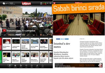 SABAH'IN İPAD UYGULAMASINDAN REKOR