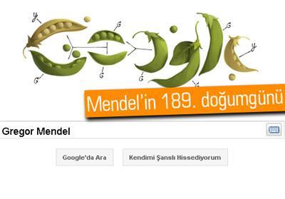 GOOGLE'DAN GREGOR MENDEL'E ÖZEL BEZELYELİ DOODLE