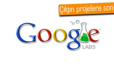 GOOGLE LABS KAPANIYOR