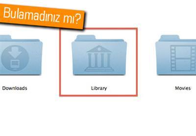 MAC OS X 10.7 LİON'DA LİBRARY NASIL TEKRAR GÖRÜNÜR YAPILIR?