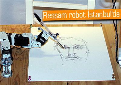 ROBOT, RESSAMLARA RAKİP OLDU