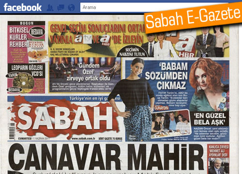 Sabah E-Gazete artık Facebook'ta