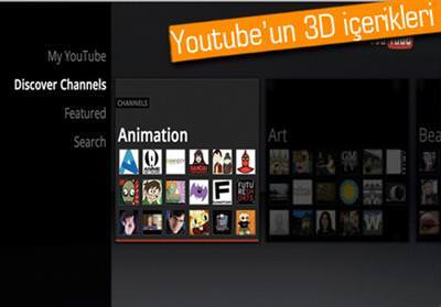 YOUTUBE'UN 3D İÇERİKLERİ İLK DEFA SAMSUNG SMART TV'DE