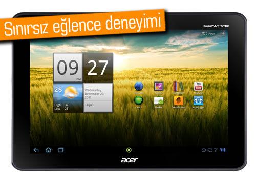 Acer'ın İlk Android 4.0 Önyüklü Tableti ICONIA A200 Türkiye'de