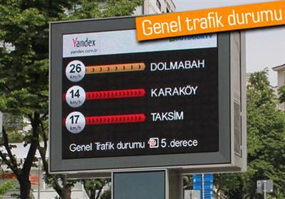 İSTANBUL SOKAKLARINDA ANLIK TRAFİK BİLGİSİ
