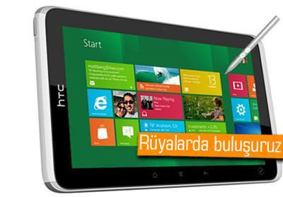 HTC'NİN WİNDOWS 8'Lİ TABLET HAYALLERİ, MİCROSOFT DUVARINA TAKILDI