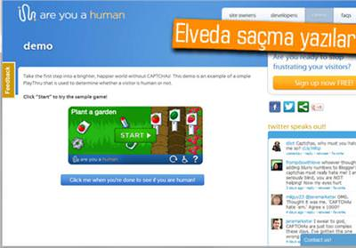 EMEKTAR CAPTCHA'YA ALTERNATİF: PLAYTHRU
