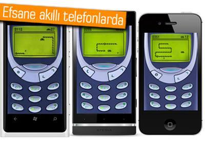 ORİJİNAL YILAN OYUNU NOKİA 3310 İLE BİRLİKTE AKILLI TELEFONLARDA