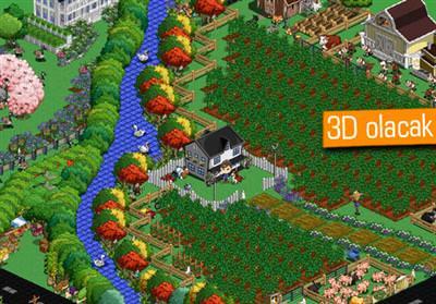 FARMVİLLE 2 YİNE TARAYICIDAN FAKAT 3D BİR DÜNYADA OYNANACAK