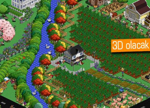 Farmville 2 yine tarayıcıdan fakat 3D bir dünyada oynanacak