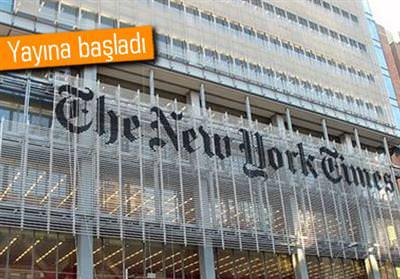 NEW YORK TİMES ÇİNCE YAYINA BAŞLADI
