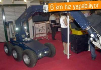 POLİSE MİLLİ BOMBA ROBOTU