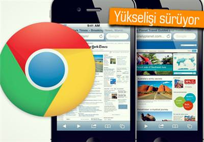 GOOGLE CHROME, APPLE İOS 5'TE ATAĞA GEÇTİ!