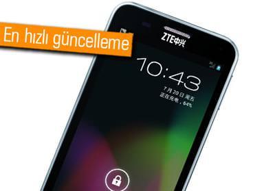 ZTE'NİN ANDROİD 4.1'Lİ İLK AKILLI TELEFONU: N880E
