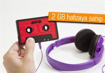 MÜZİK KASETİ ŞEKLİNDE MP3 PLAYER İSTER MİSİNİZ?