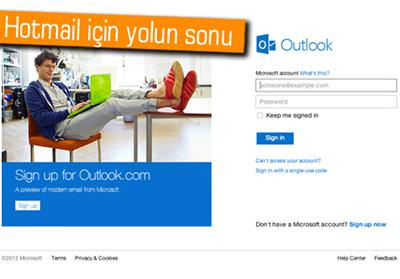 GÜLE GÜLE HOTMAİL, HOŞ GELDİN OUTLOOK.COM