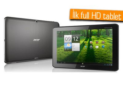 ACER'İN İLK FULL HD TABLETİ ICONIA A700 TÜRKİYE'DE