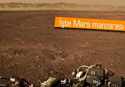 CURİOSİTY'DEN İLK PANORAMİK MARS FOTOĞRAFI