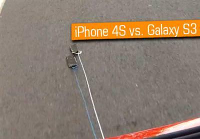 ASFALTTA HANGİSİ SAĞLAM? İPHONE 4S Mİ GALAXY S3 MÜ?