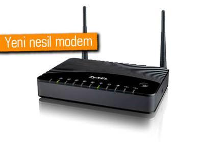 ADSL2+ VE FİBER BİR ARADA MODEM ZYXEL P-660HNU-F1