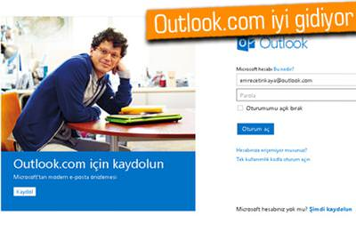 OUTLOOK.COM İKİ HAFTADA 10 MİLYON KULLANICIYA ULAŞTI