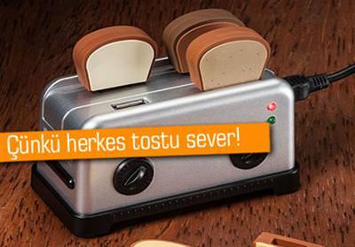 TOST MAKİNESİ USB HUB, TOSTLAR FLASH BELLEK OLURSA...