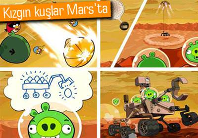 ANGRY BİRDS MARS'A İNİŞ YAPTI