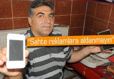 235 LİRAYA 'İPHONE 4' ALDI AMA...