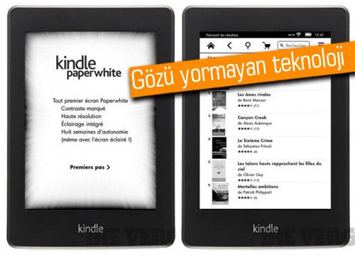 Gözlerinizi düşünen e-kitap okuyucu 'Paperwhite' Amazon'la piyasada…