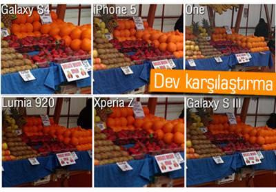 KAMERA KARŞILAŞTIRMASI: GALAXY S4, HTC ONE, XPERİA Z, İPHONE 5, LUMİA 920, GALAXY S3