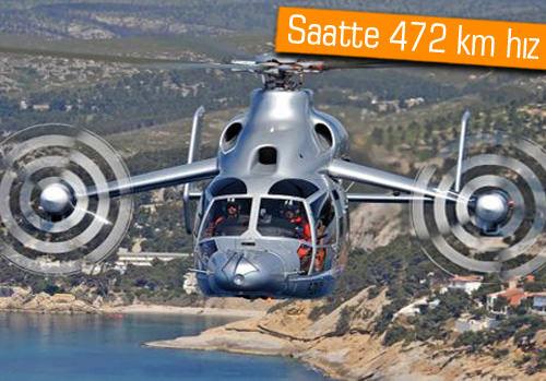 Dünyanın en hızlı helikopteri Eurocopter X3 ile tanışın