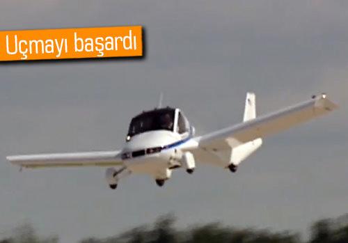 Uçan arabanın ilk uçuş testi başarıyla sonuçlandı