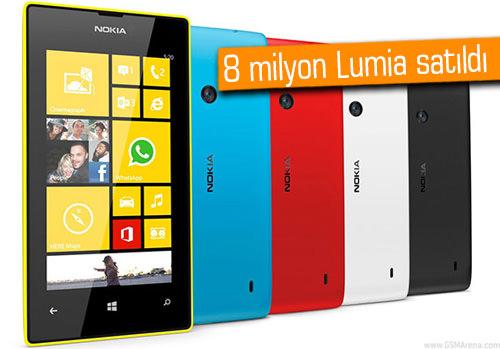 Nokia, Lumia telefonlar ile satış rekoru kırmaya devam ediyor