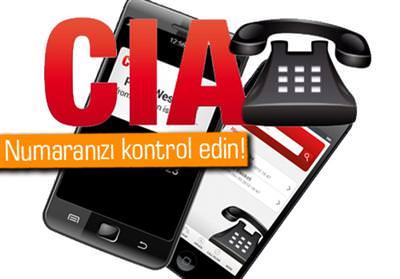 CIA 'İN ELİNDEKİ TELEFON NUMARALARI WEB'E DÜŞTÜ