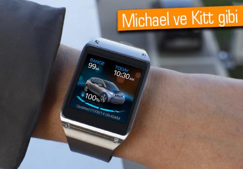 Galaxy Gear ile BMW i3'ü kontrol et!