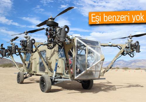 Bu araç hem helikopter hem de kamyon