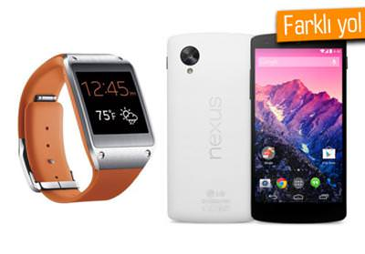 NEXUS 5'TE GALAXY GEAR ÇALIŞIYOR