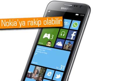 SAMSUNG'UN WİNDOWS PHONE 8 TELEFONUNDAN DETAYLAR VAR