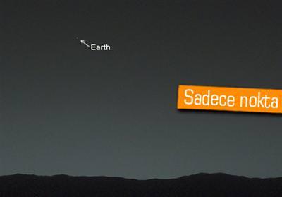 CURİOSİTY, MARS'TAN DÜNYA'NIN FOTOĞRAFINI ÇEKTİ