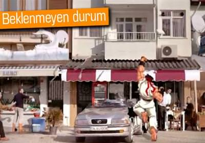 STREET FİGHTER'LI KASKO REKLAMI