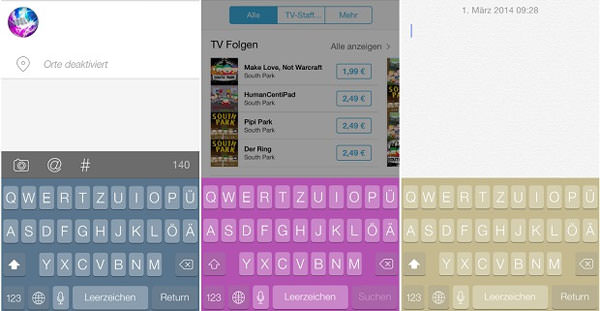 iphone klavye rengi değiştirme jailbreaksiz