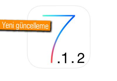 APPLE, İOS 7.1.2'Yİ YAYINLADI