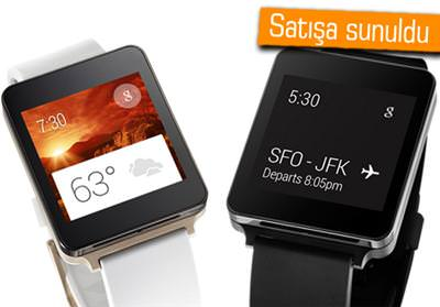 LG G WATCH SATIŞA ÇIKTI