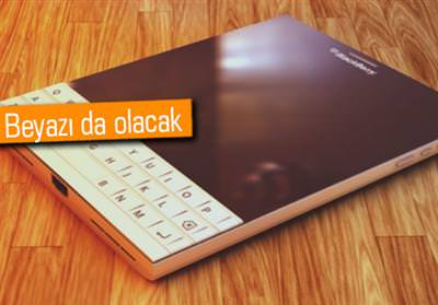 BEYAZ RENKLİ BLACKBERRY PASSPORT'UN KONSEPTİ