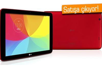 LG G PAD 10.1 KÜRESEL PAZARDA SATIŞA ÇIKIYOR