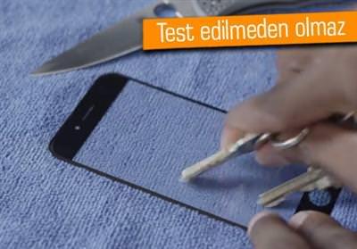 İPHONE 6'NIN SAFİR PANELİ DAYANIKLILIK TESTİNDE!